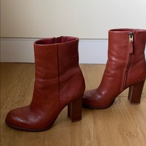 Sam Edelman 5.5 Brown Leather Booties